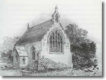 The original church. Built 1847, demolished 1862.